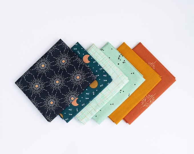 Sun, Moon and Stars - 6 piece Curated Fat Quarter Bundle