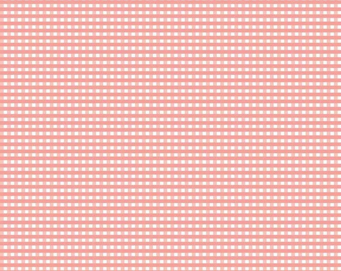 "1/8"" Small Gingham Check Coral for Riley Blake Designs"