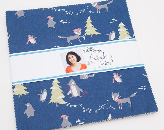 "Winter Tales 10"" Stacker, by Minki Kim for Riley Blake Designs"