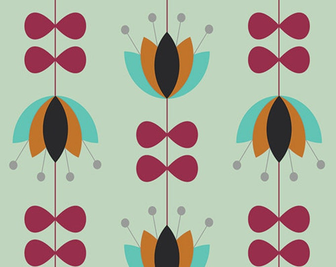 Tulip Vines Mint designed by Jenni Baker for AGF