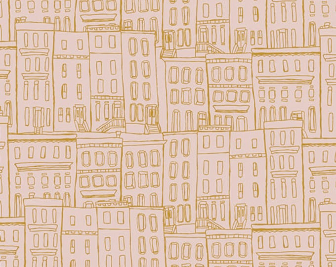 Brownstones Washed from Gramercy  by Leah Duncan for AGF