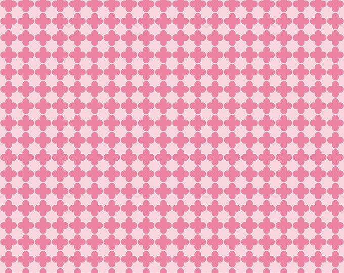 Quatrefoil in Pink and Hot Pink - for Riley Blake Designs
