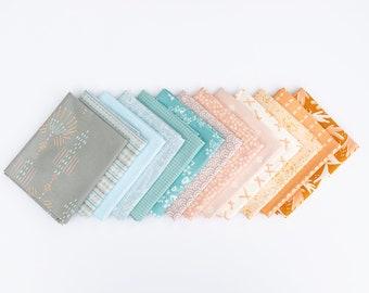 Sea Glass- 13 piece Curated Fat Quarter Bundle