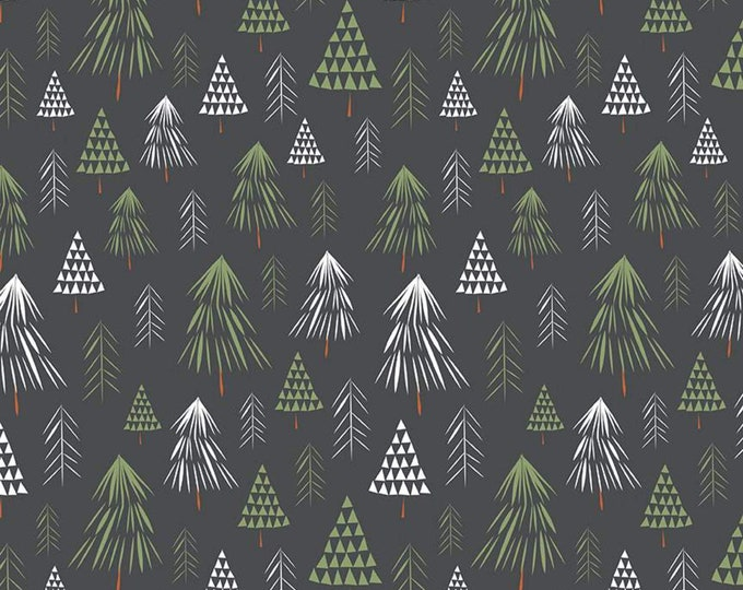 In the Forest Trees GRAY for Riley Blake Designs
