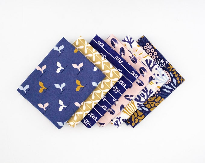 Whale Tail -  Curated bundle - 6 fat quarters