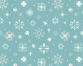 Way Up North Snowflake-BLUE for Riley Blake Designs