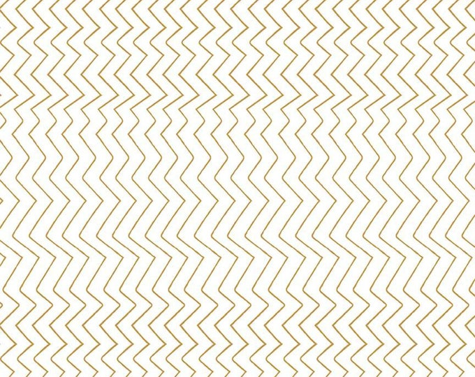 Zig Zag Gold Sparkle from Spotted  by Kate Blocher for Riley Blake Designs