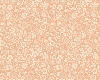 Meadow Lane Floral Imprint Melon by Sara Davies for Riley Blake Designs