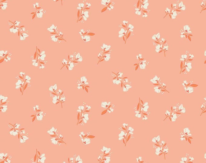 Midsummer Meadow Blossom Salmon by Katherine Lenius for Riley Blake Designs