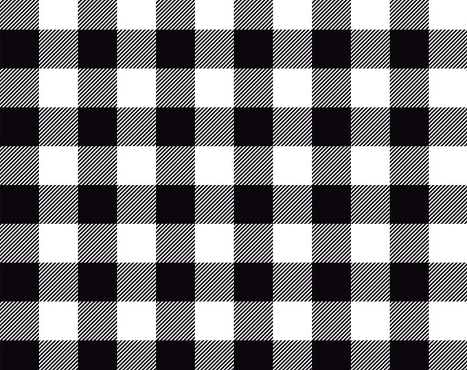 Let Them Be Little Black Lumberjack Plaid, by Simple Simon and Co. for Riley Blake
