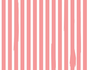 Kiss Me Kate Nail Polish Stripe Coral by See Kate Sew for Riley Blake