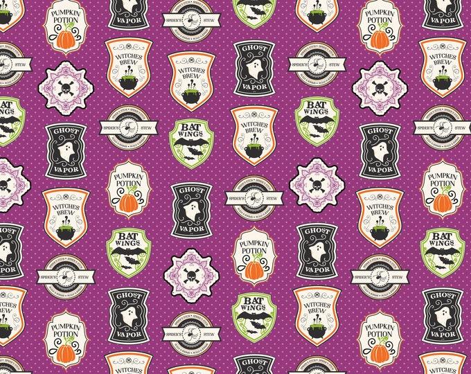Eek Boo Shriek Purple Badge, by Riley Blake Designs