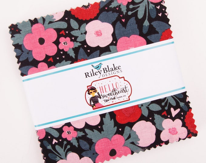 "Hello Sweetheart 5"" Stacker, by Echo Park Paper Co. for Riley Blake Designs"
