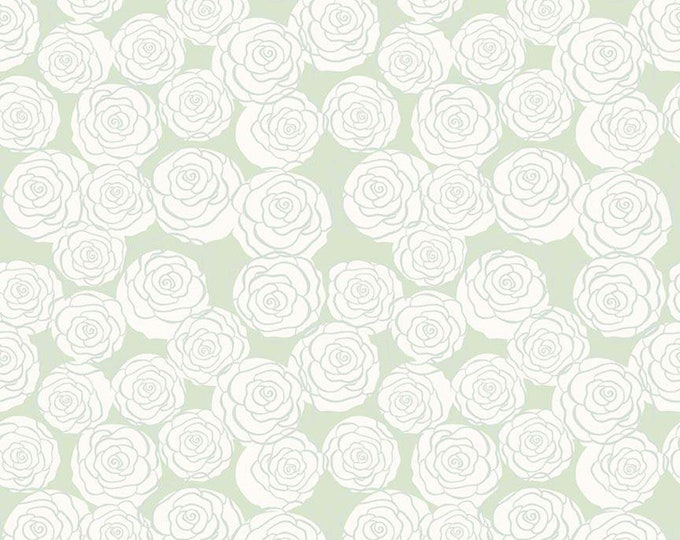 Bliss Roses Mint by My Mind's Eye for Riley Blake Designs