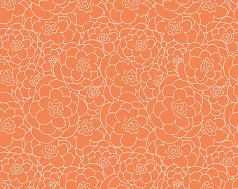 Corollas Tangerine from Here Comes the Fun by Sew Caroline for Art Gallery Fabrics