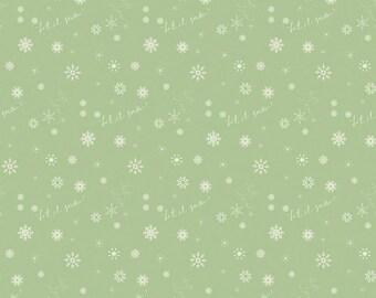 Winter Tales Snowflake Green by Minki Kim for Riley Blake Designs