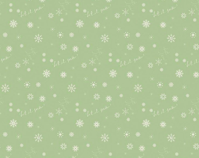 Winter Tales Snowflake Green by Minki Kim for Riley Blake Designs
