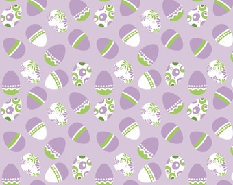Easter Holiday Banner Eggs Purple for Riley Blake
