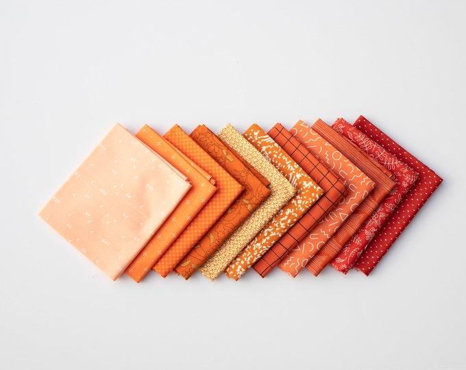 Orange Crush- 11 piece Curated Fat Quarter Bundle