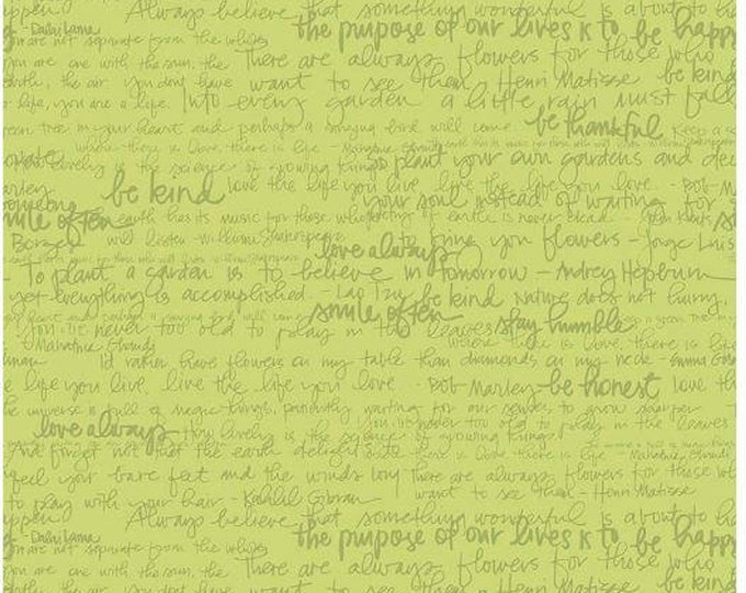 Into The Garden Green Text, by Amanda Herring for Riley Blake Designs