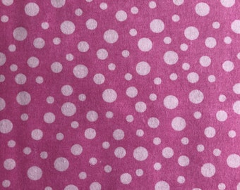 Flannel Pink Polka Dots by Riley Blake