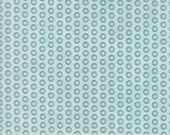 Mighty Machines Meander Blue Brushed Cotton by Lydia Nelson for MODA