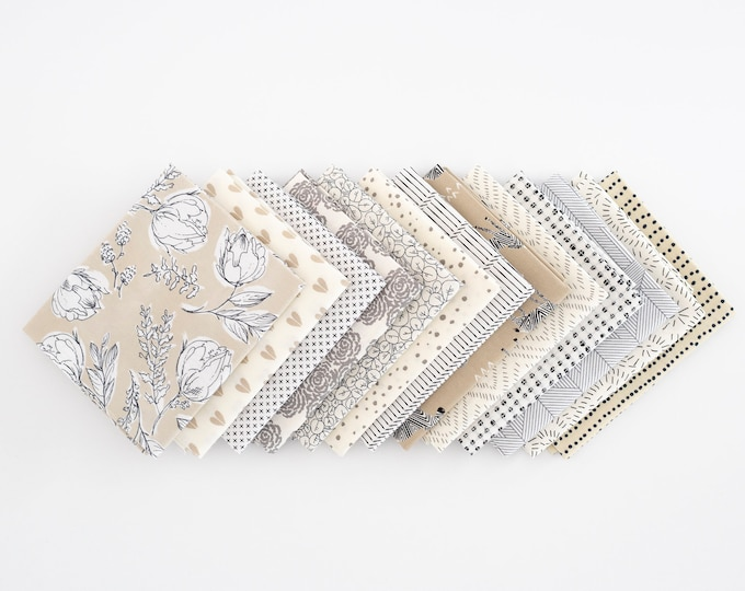Dancing in the Sand- Curated Fat Quarter Bundle 13 fat quarters