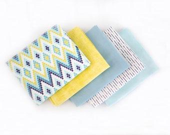 Chic Star Curated Half Yard Bundle - 5 patterns, Riley Blake fabrics