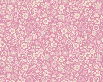 Meadow Lane Floral Imprint Pink by Sara Davies for Riley Blake Designs