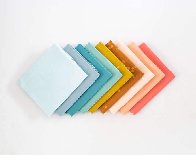 Muted Rainbow Curated Fat Quarter Bundle
