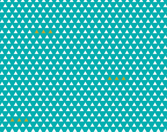 Four Corners Triangle Teal by Simple Simon and Company for Riley Blake