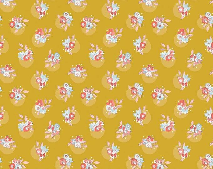 Petals & Pots Floral Mustard by Gabrielle Neil Design Studio for Riley Blake Designs