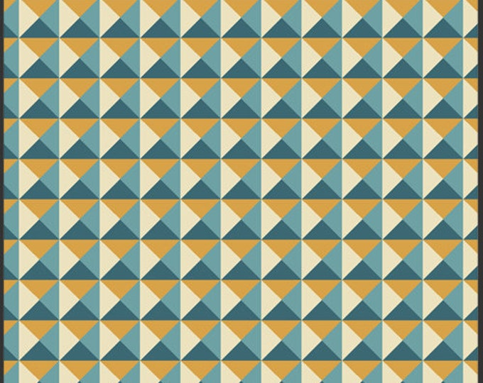 Nouveau Geo Blue for Art Gallery Fabrics