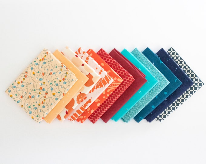Evening Firefly - 12 piece Curated Fat Quarter Bundle