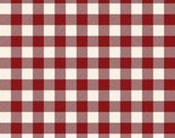 """Christmas Traditions Plaid Red 3/4"""" by Dani Mogstad for Riley Blake Designs"""