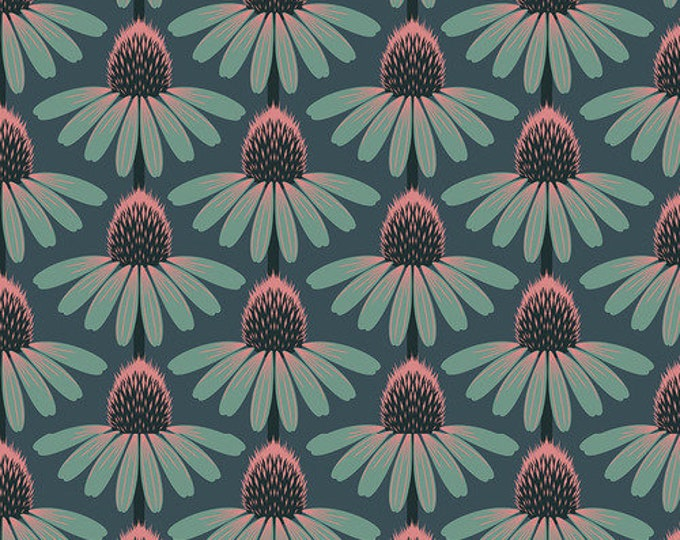 Echinacea - Dim from Love Always, AM by Anna Maria for Free Spirit Fabrics