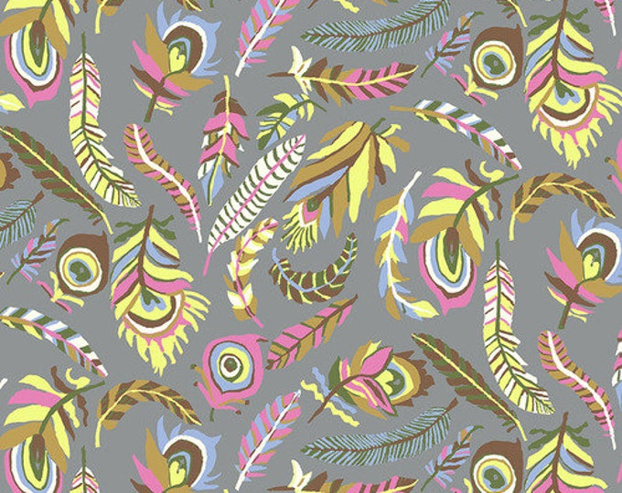 Tickle My Fancy - Grey by Brandon Mably for Kaffe Fassett Collective for Free Spirit Fabrics