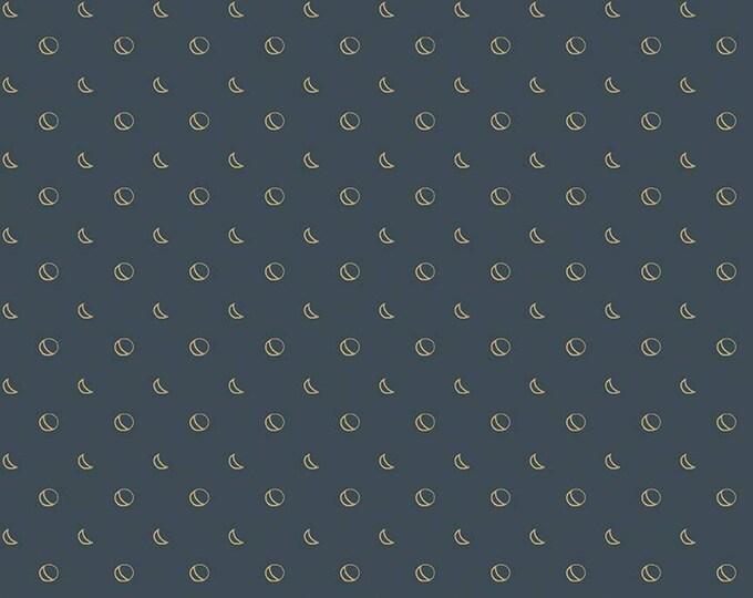 Beneath the Western Sky Moons Dark Navy by Gracey Larson for Riley Blake Designs