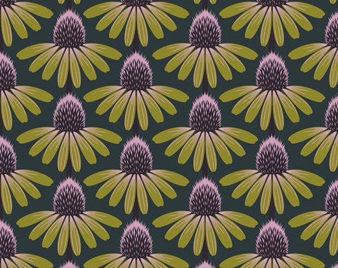 Echinacea - Seaweed from Love Always, AM by Anna Maria for Free Spirit Fabrics