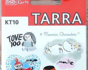 3 sheets Moomin stickers made by Karto (2014). TOVE100