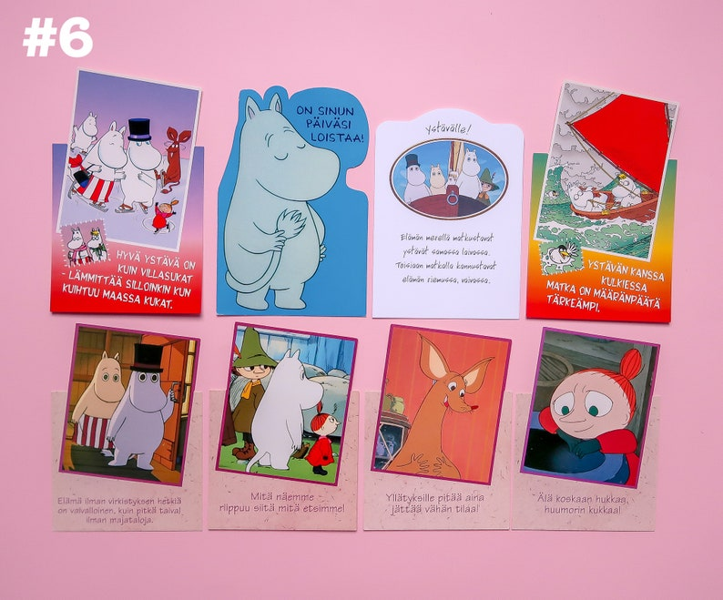 Vintage Moomin postcards from the 90s and early 00s  RARE  From Finland