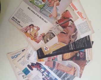"Vintage Magazine Print Ads, Lot of 10 different, '60's ,size B6 ( that's 5""x7"" )"