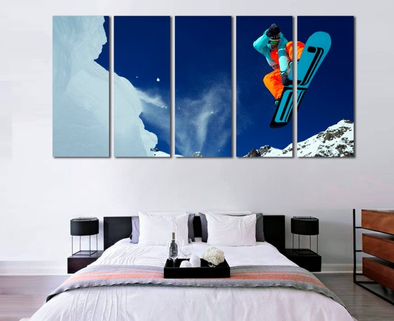 Snowboard wall art Snowboard decor Snowboard poster Snowboard | Etsy