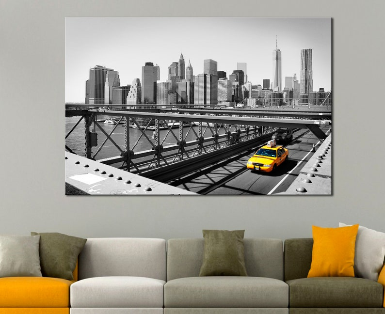 Poster New York Taxi.Nyc Taxi Wall Art Nyc Taxi Wall Decor Nyc Taxi Poster New York Etsy
