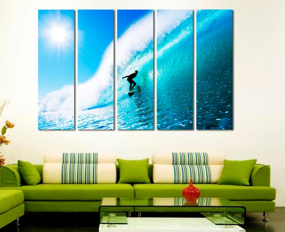 Surfer on the wave Surfing wall art Surfing art Surfing decor | Etsy