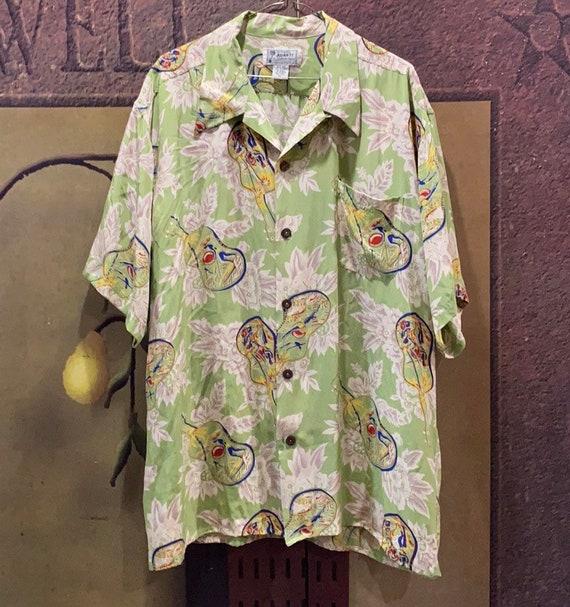 Vintage Men's Avanti Guitar Silk Shirt Authentic H