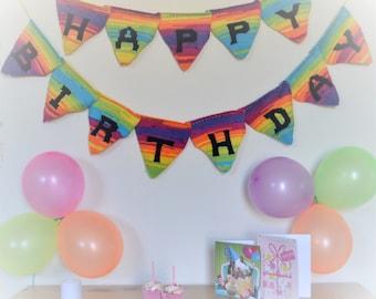 Happy Birthday Bunting Knitting Pattern