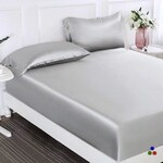 100% Silk 2-in-1 Fitted & Flat Sheet with 2 Silk Pillowcases