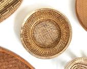 Rattan Brass Plate Charger Wall Basket