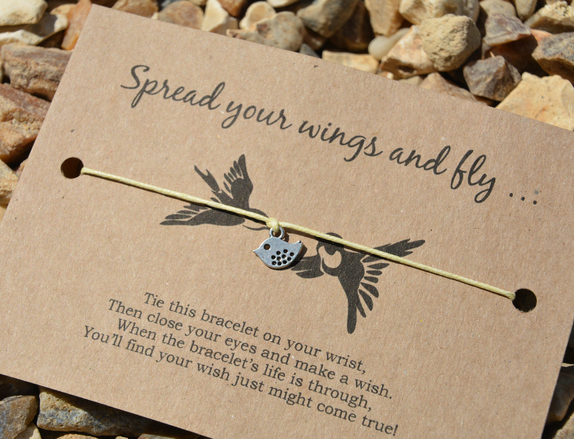 A Little Wish For A Knitter Wish Bracelet Knitting Gift Card Wish String